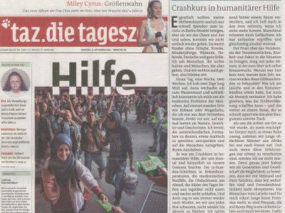 taz - Crashkurs in humanitärer Hilfe